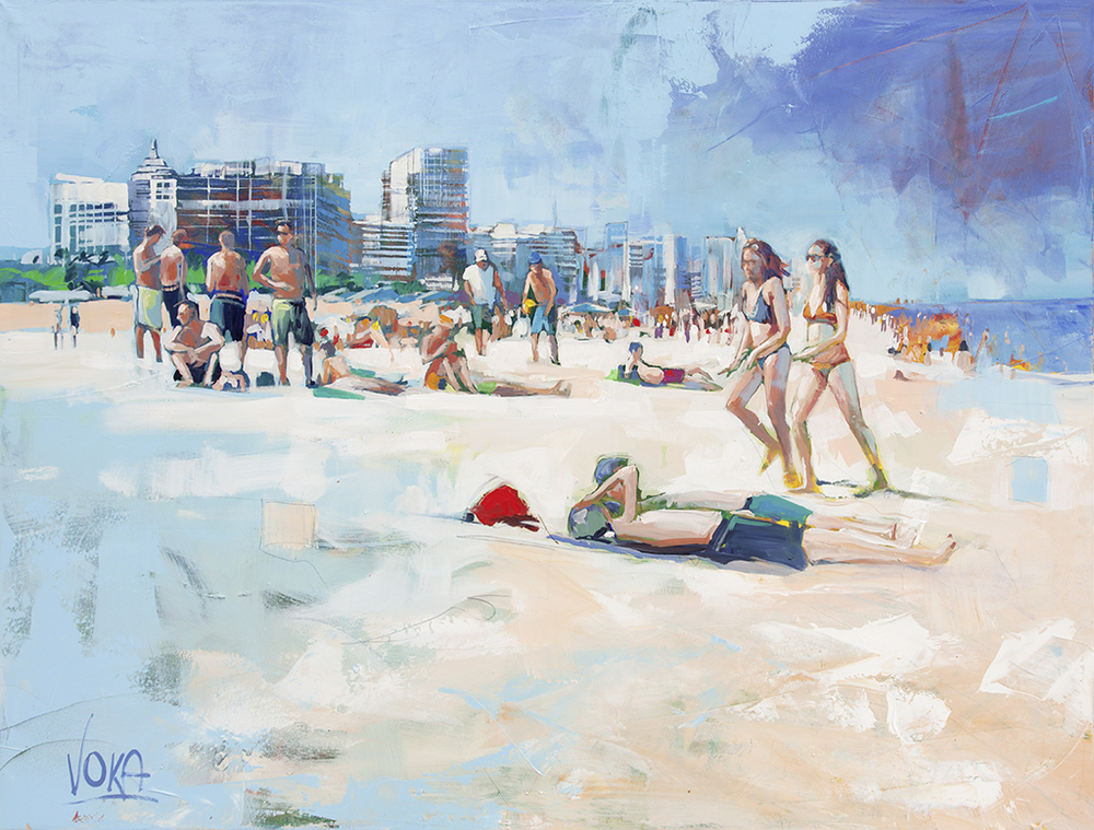 Miami Beach 02, 150x200cm/59,06x78,74 inch, acrylic on canvas.