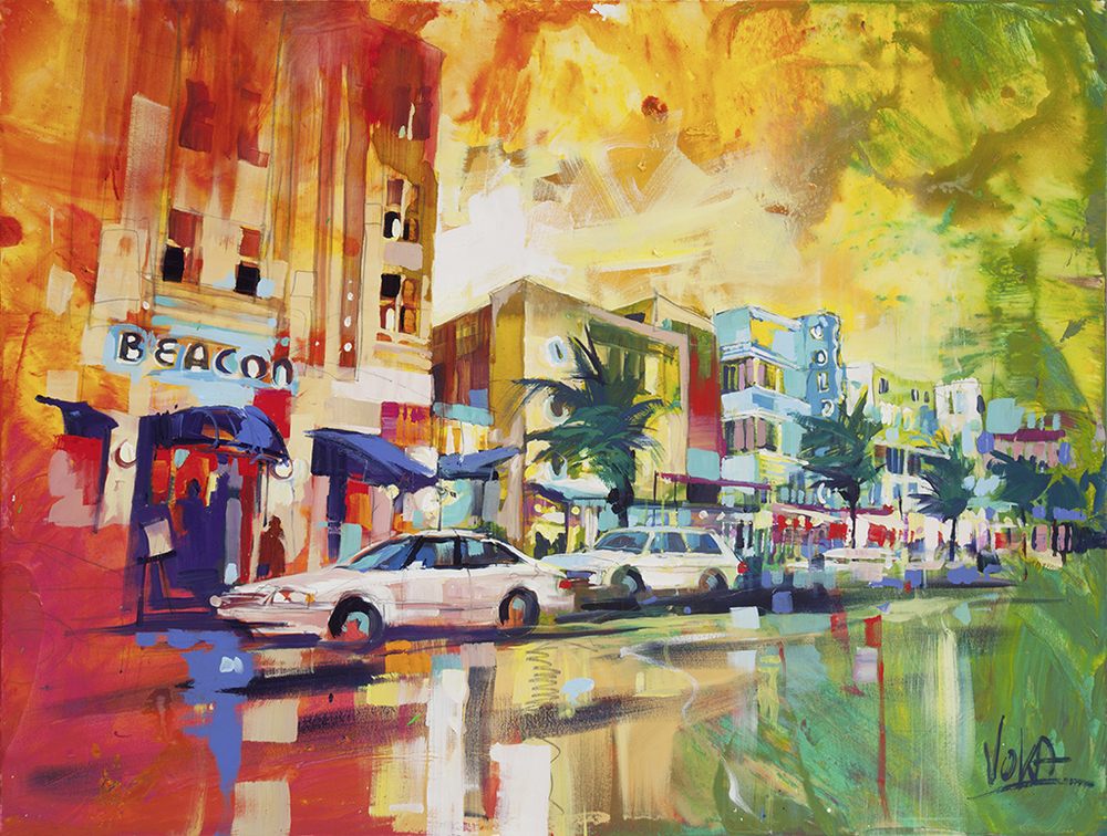 Miami South Beach, 120x160cm/47,24x62,99 inch, acrylic on canvas.