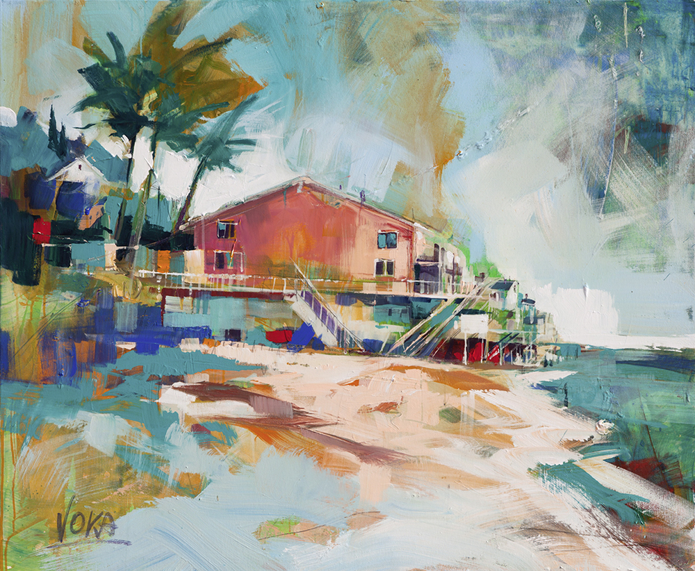 MALIBU, 100X120CM/39,4X47,2 INCH, ACRYLIC ON CANVAS