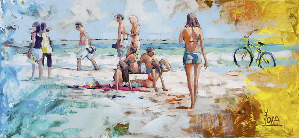 Miami Beach 01, 120x260cm/47,24x102,36 inch, acrylic on canvas.