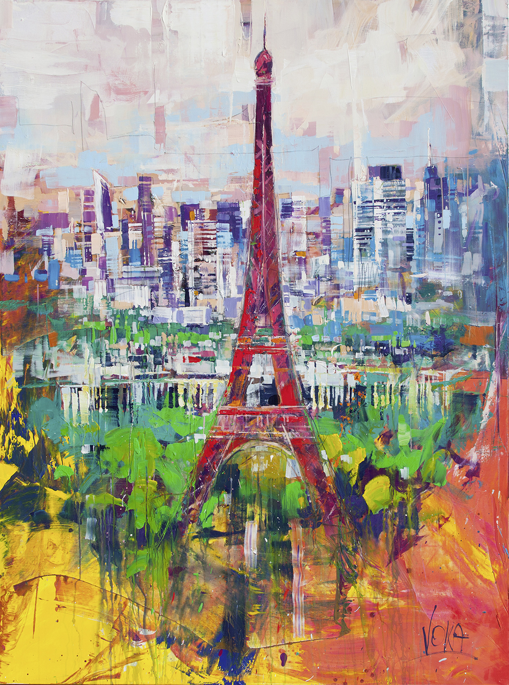 Paris, 200x150cm/78,7x59,1 inch, acrylic on canvas