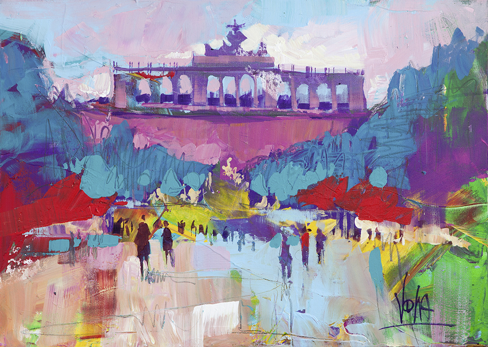 Vienna - Gloriette, 50x70cm/ 19,7x27,6 inch, acrylic on canvas