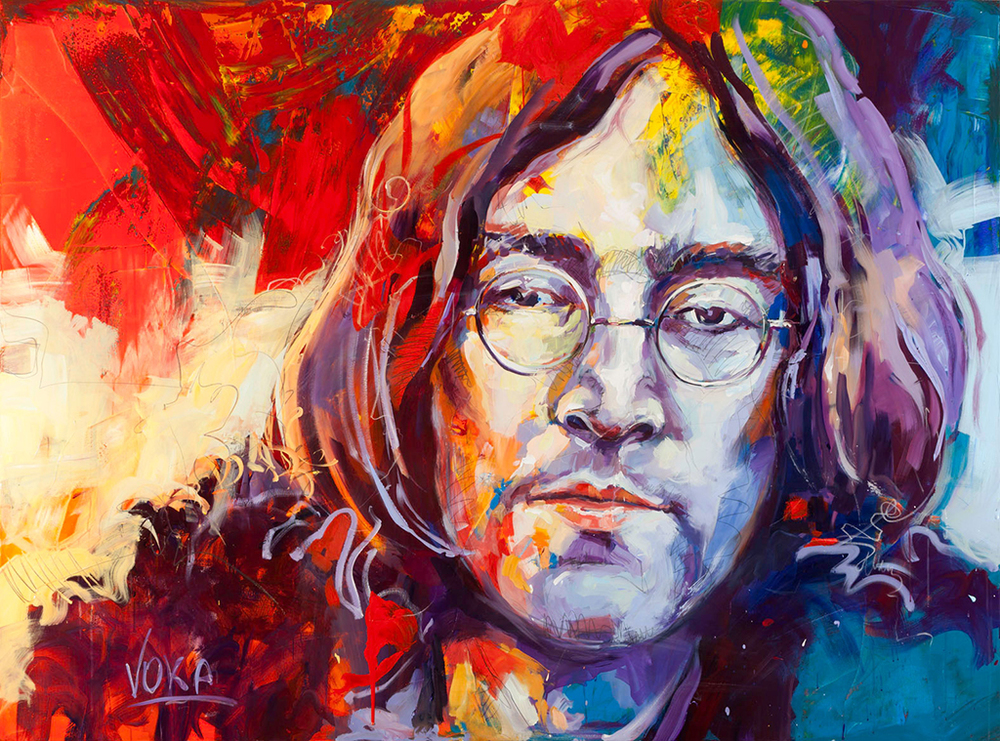 John Lennon, 150x200 cm/59,1 x 78,7 inch, acrylic on canvas.