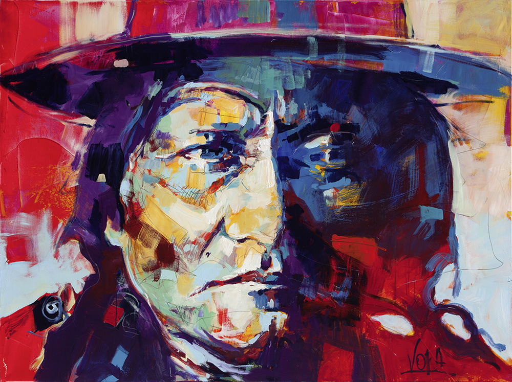 Sitting Bull, 150x200 cm/59,1 x 78,7 inch, acrylic on canvas.