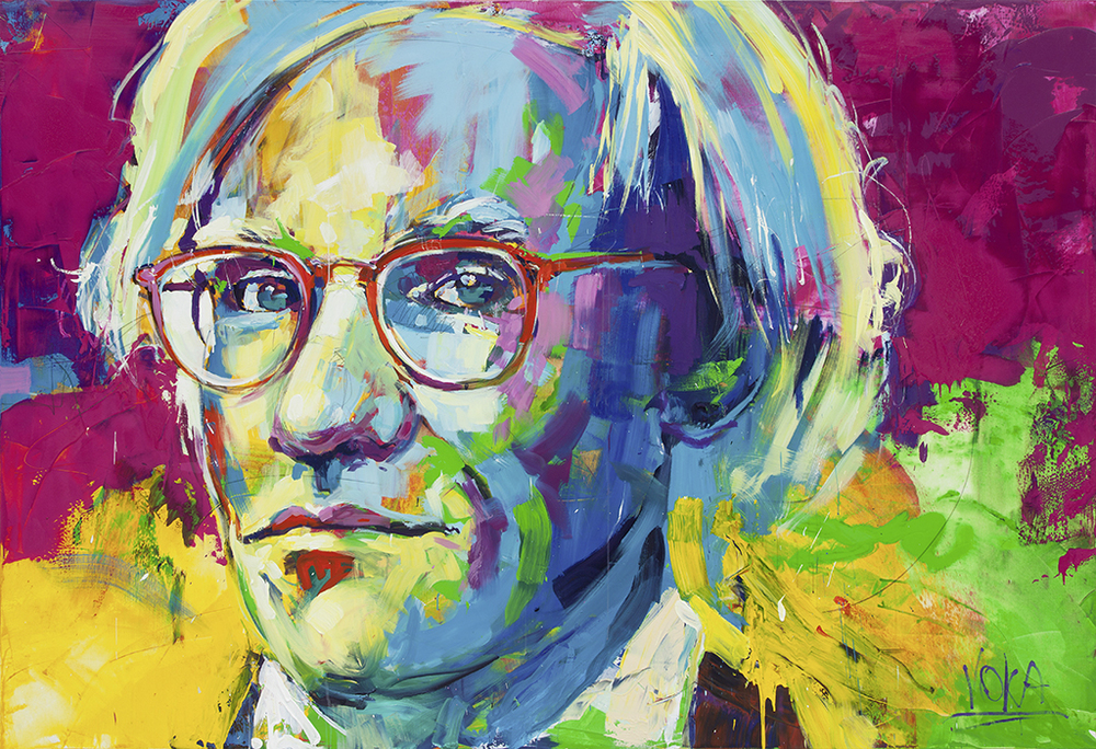 Andy Warhol, 190x280 cm/74,8 x 110,2 inch, ccrylic on Canvas.