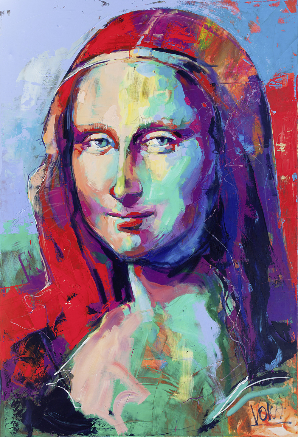Mona Lisa, 280x190 cm/110,24x74,8 inch, acrylic on canvas.