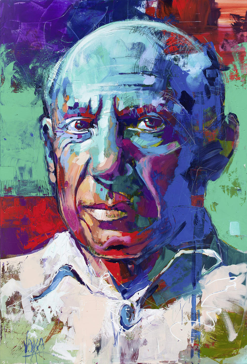 Picasso, 280x190 cm/110,24x74,8 inch, acrylic on canvas