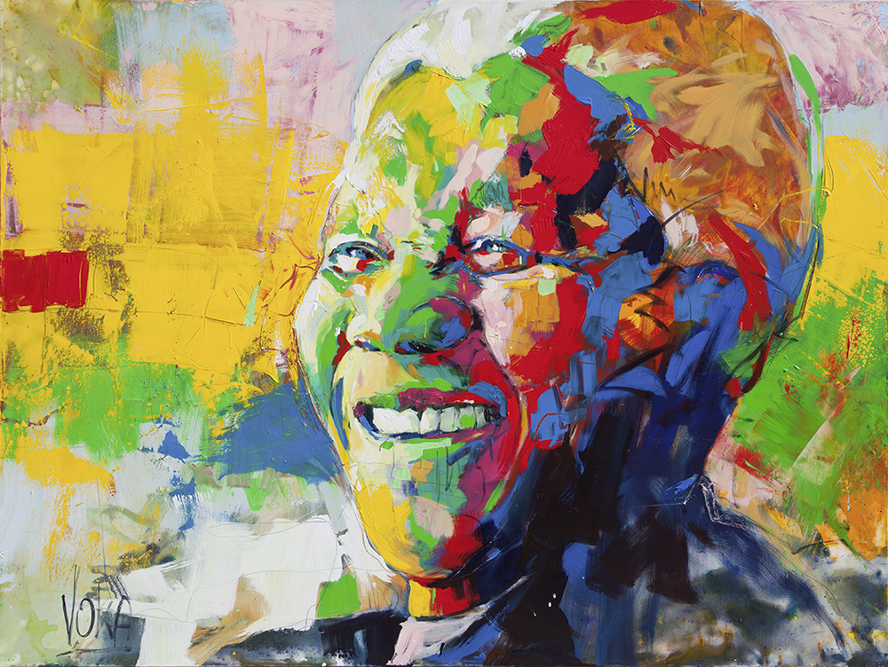 Nelson Mandela, 150x200cm/59,1x78,7 inch, acrylic on canvas