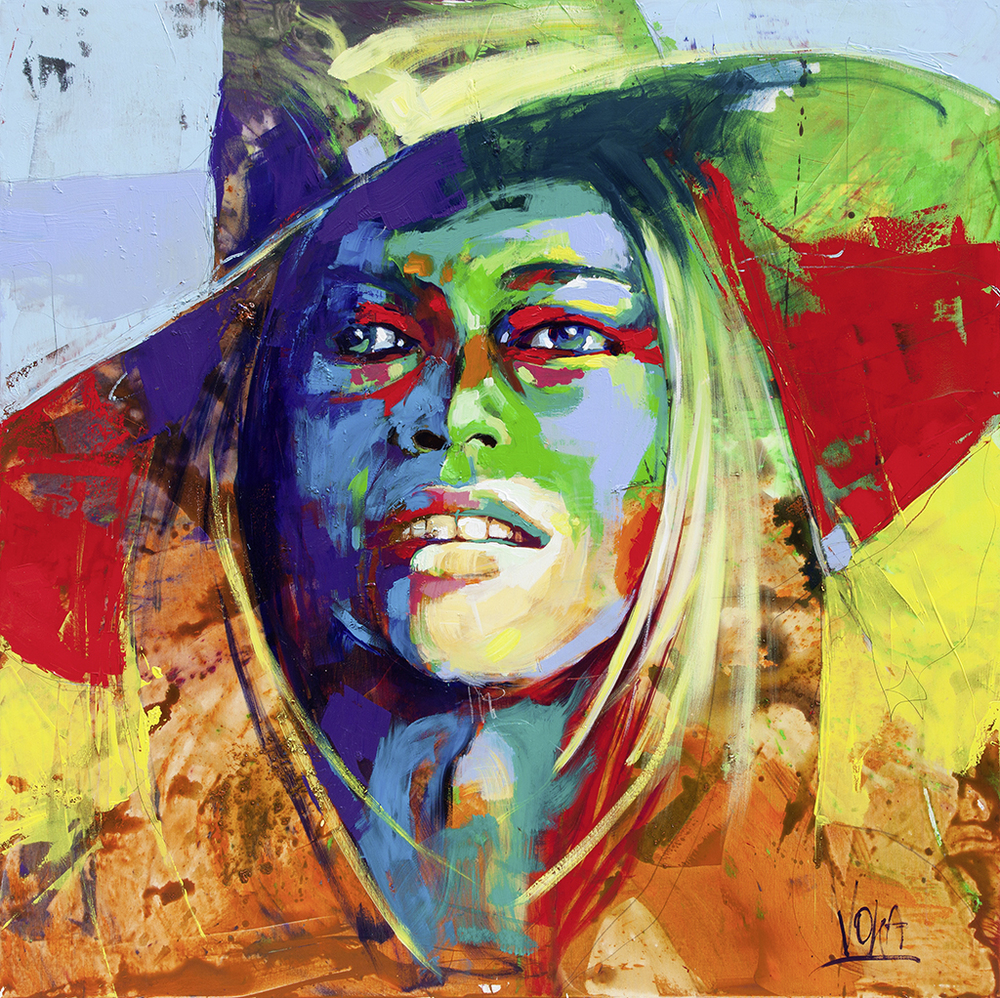 Brigitte Bardot, 190x190cm/ 74,8x74,8 inch, acrylic on canvas
