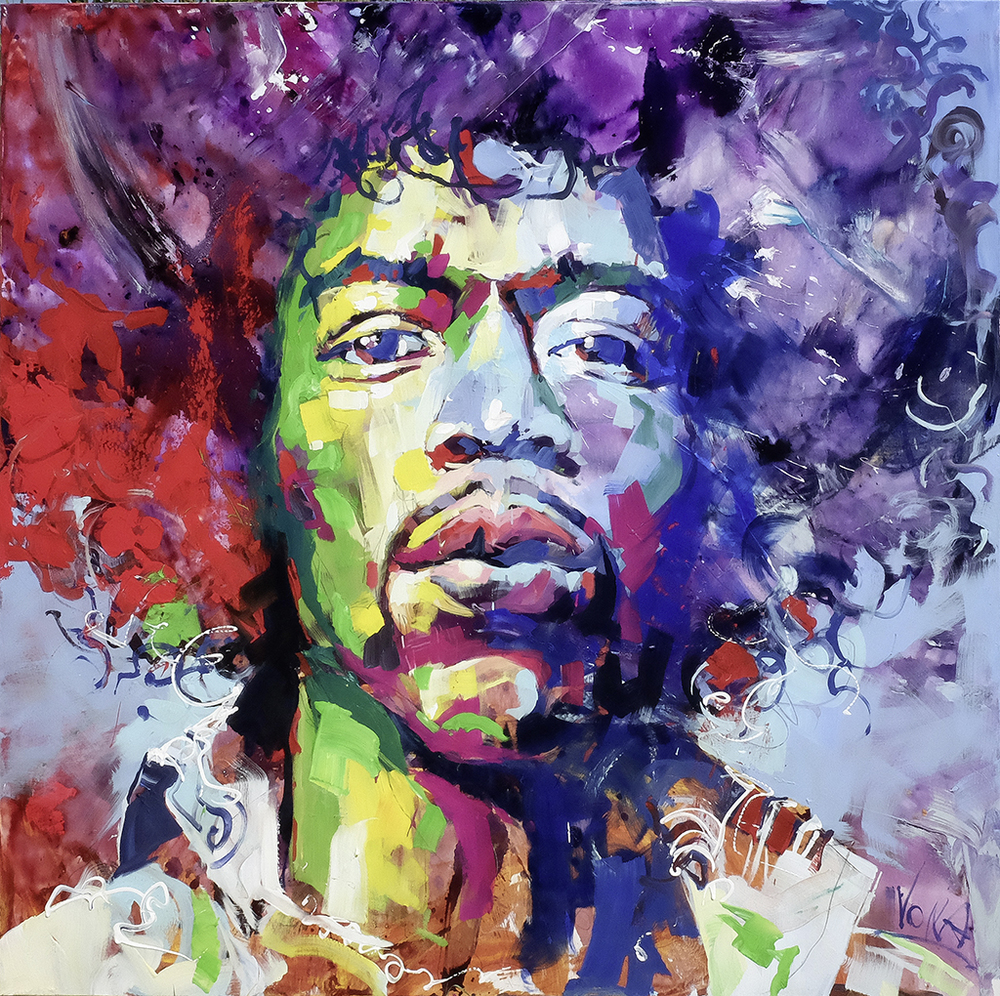 Jimi, 190x190cm/ 74,8x74,8 inch, acrylic on canvas