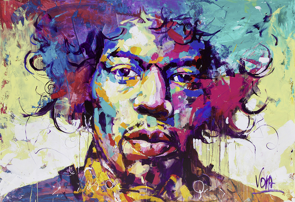 Jimi, 190X280CM/74,8X110,2 INCH, ACRYLIC ON CANVAS