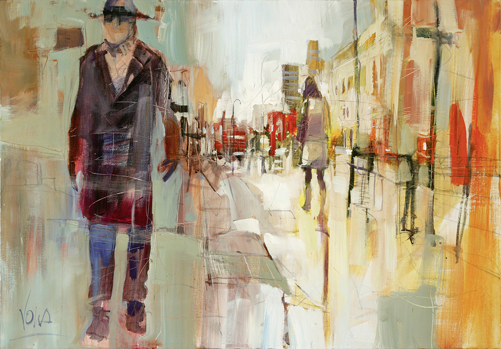 People - London, 70x100 cm/27,6 x 39,4 inch, acrylic on canvas