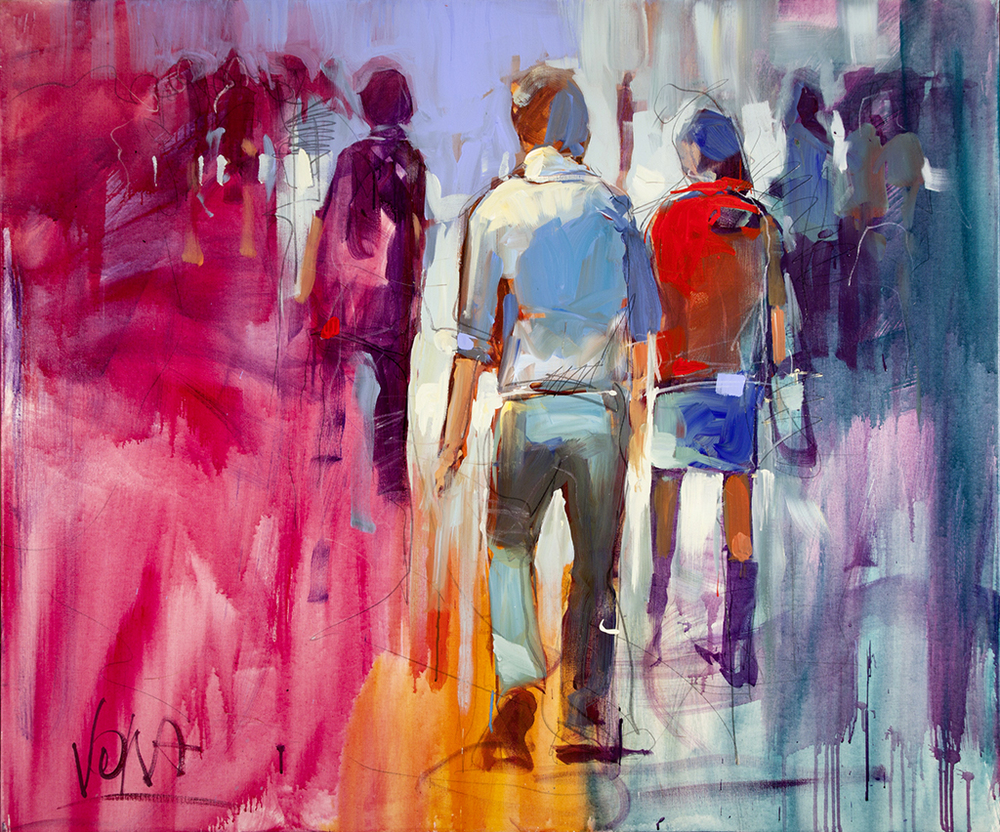 People 01, 100x120 cm/39,4 x 47,2 inch, acrylic on canvas