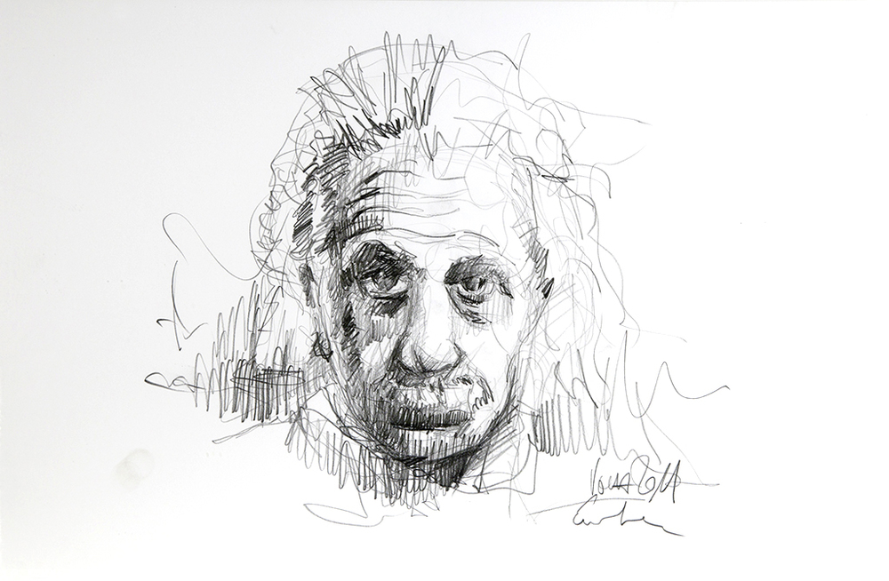 2011 05 Einstein 01, Skizze 25x40 cm.jpg