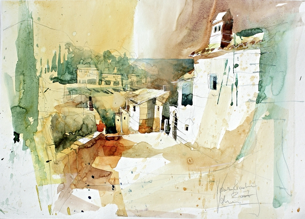 Vrsar Croatia 01, 50x70 cm/19,7 x 27,6 inch, Water Colour Painting