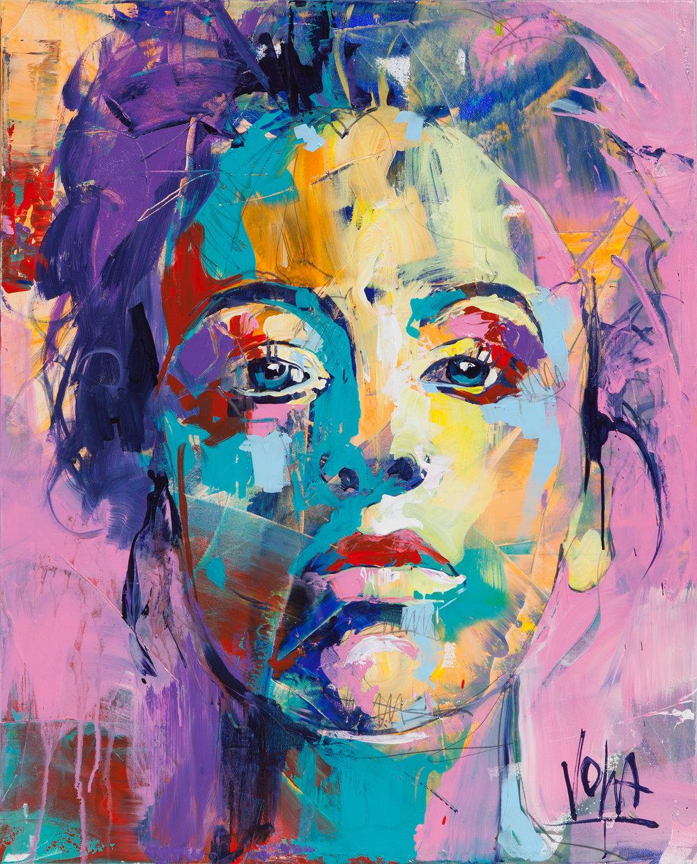 Head, 100x80 cm/39,4x31,5 inch, Acrylic on Canvas