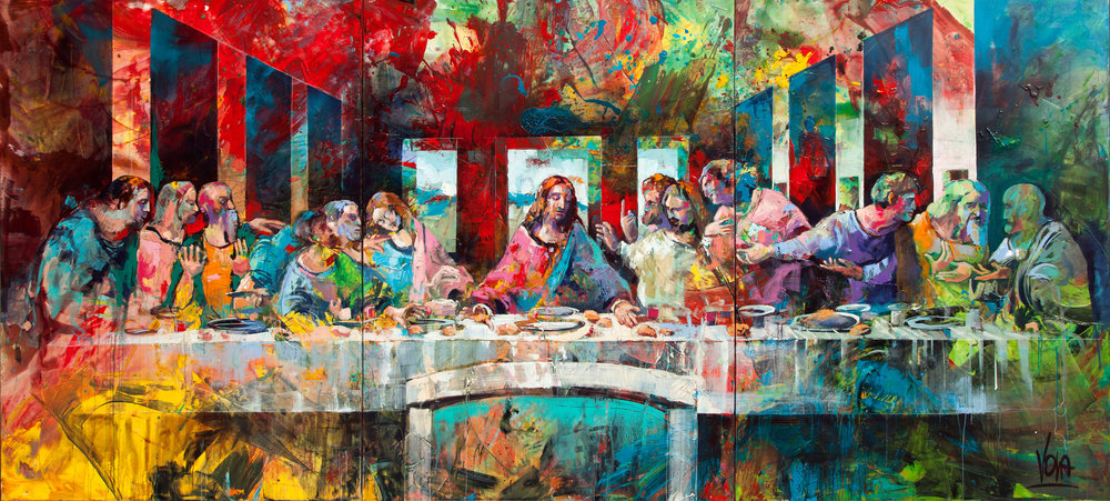 The Last Supper, 460X210cm / 181,1X82,7 inch, Acrylic on Canvas