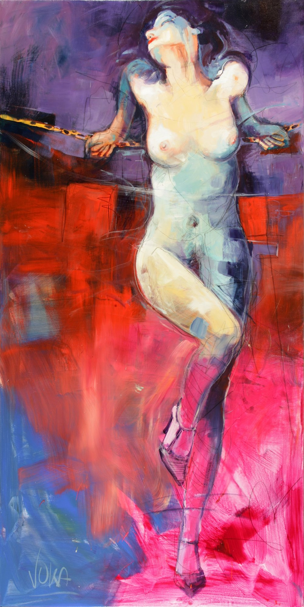 NUDE 01, 100x200 cm / 39,4x78,7 inch, Acrylic on Canvas