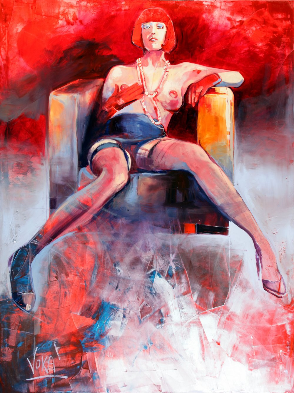 NUDE 02, 200x150 cm / 78,7x59,1 inch, Acrylic on Canvas
