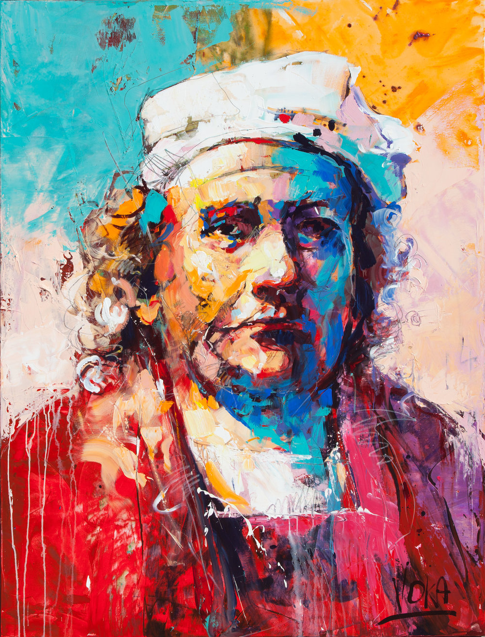Rembrandt van Rijn, 200X150cm / 78,7X59,1 inch, Acrylic on Canvas