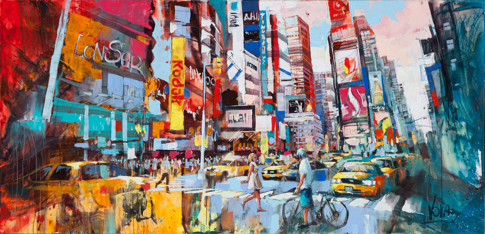 NYC, 100x200 cm/39,4x78,7 inch, Acrylic on Canvas