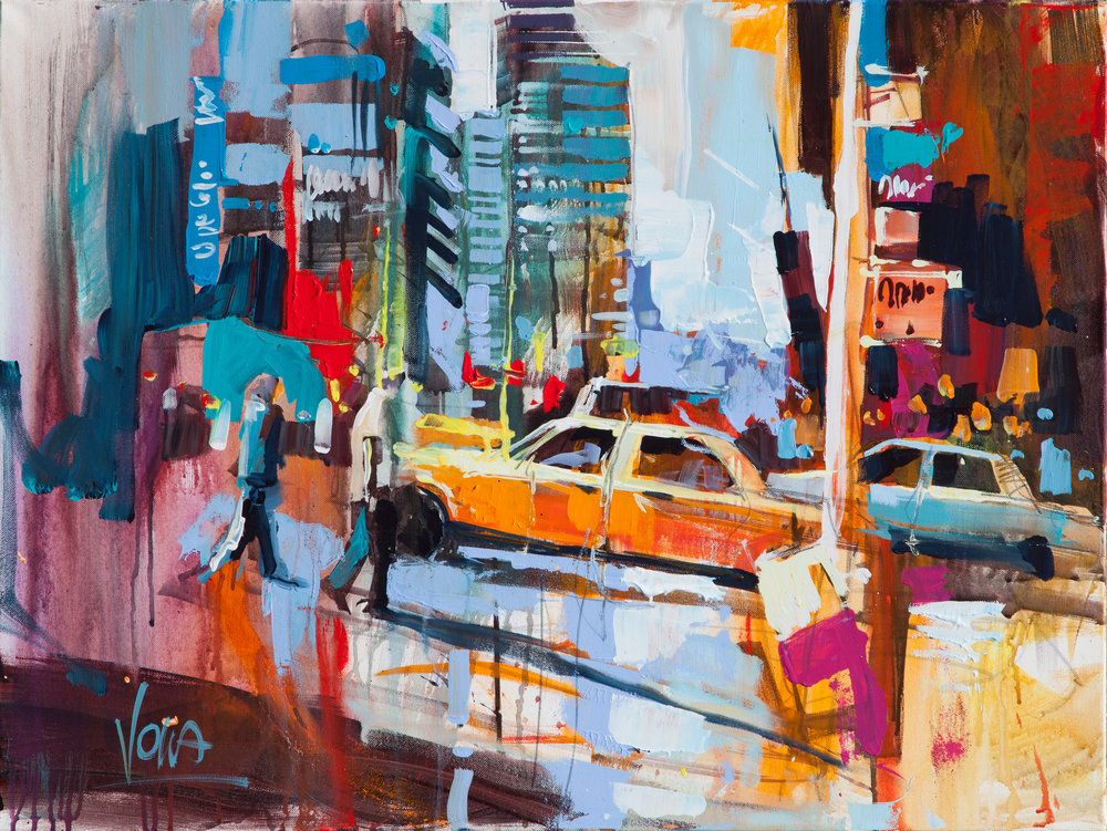 NYC, 60x80 cm/23,6x31,5 inch, Acrylic on Canvas