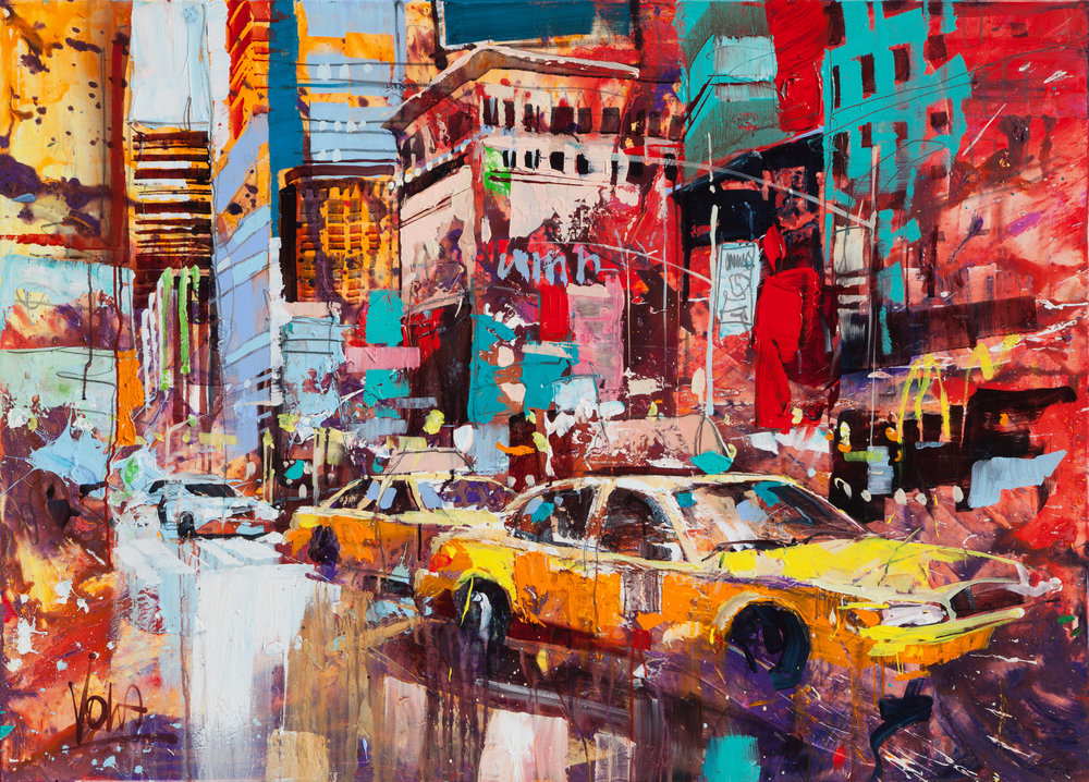 NYC, 100x140 cm/39,4x55,1 inch, Acrylic on Canvas