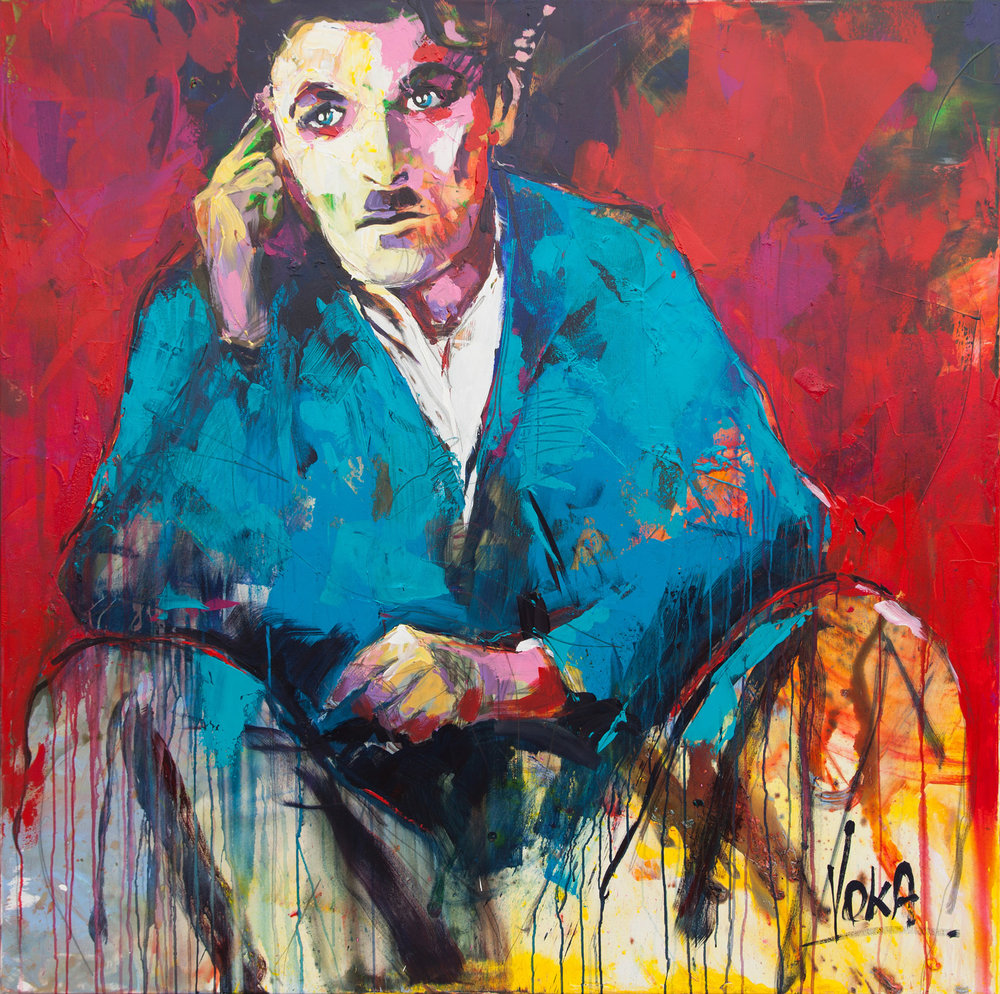 Charlie, 150x150 cm/59,1x59,1 inch, Acrylic on Canvas