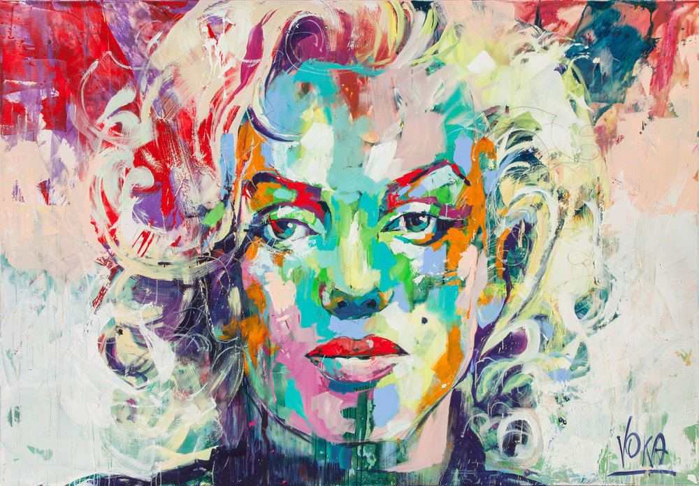 Marilyn, 190x280 cm/74,8x110,2 inch, Acrylic on Canvas