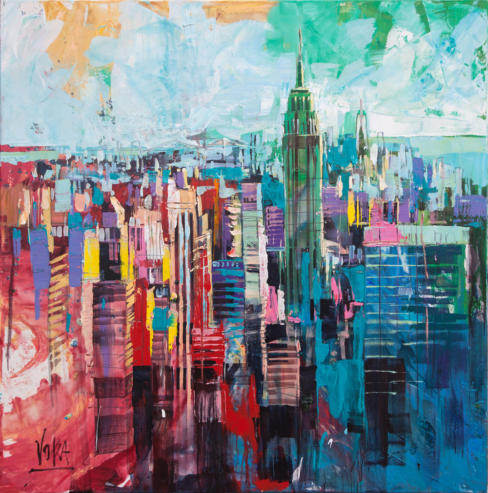 New York City, 150x150 cm/59,1x59,1 inch, Acrylic on Canvas