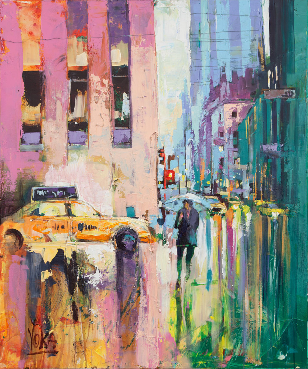 New York City, 120x100 cm/47,2x39,4 inch, Acrylic on Canvas
