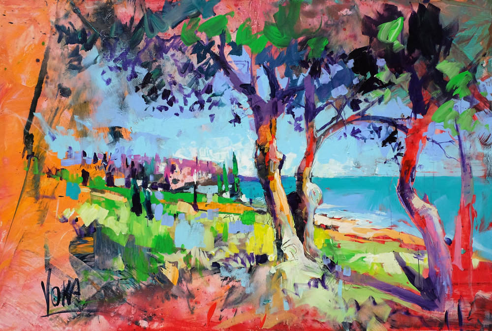 Zaga Beach, 100x150 cm/39,4x59,1 inch, Acrylic on Canvas