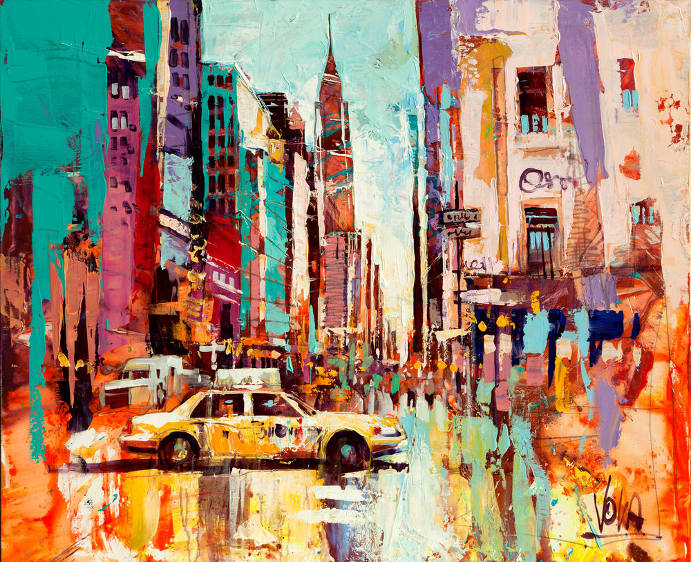 New York City, 100x120 cm/39,4x47,2 inch, Acrylic on Canvas