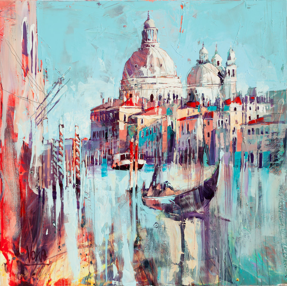 Venezia, 130x130 cm/51,2x51,2 inch, Acrylic on Canvas