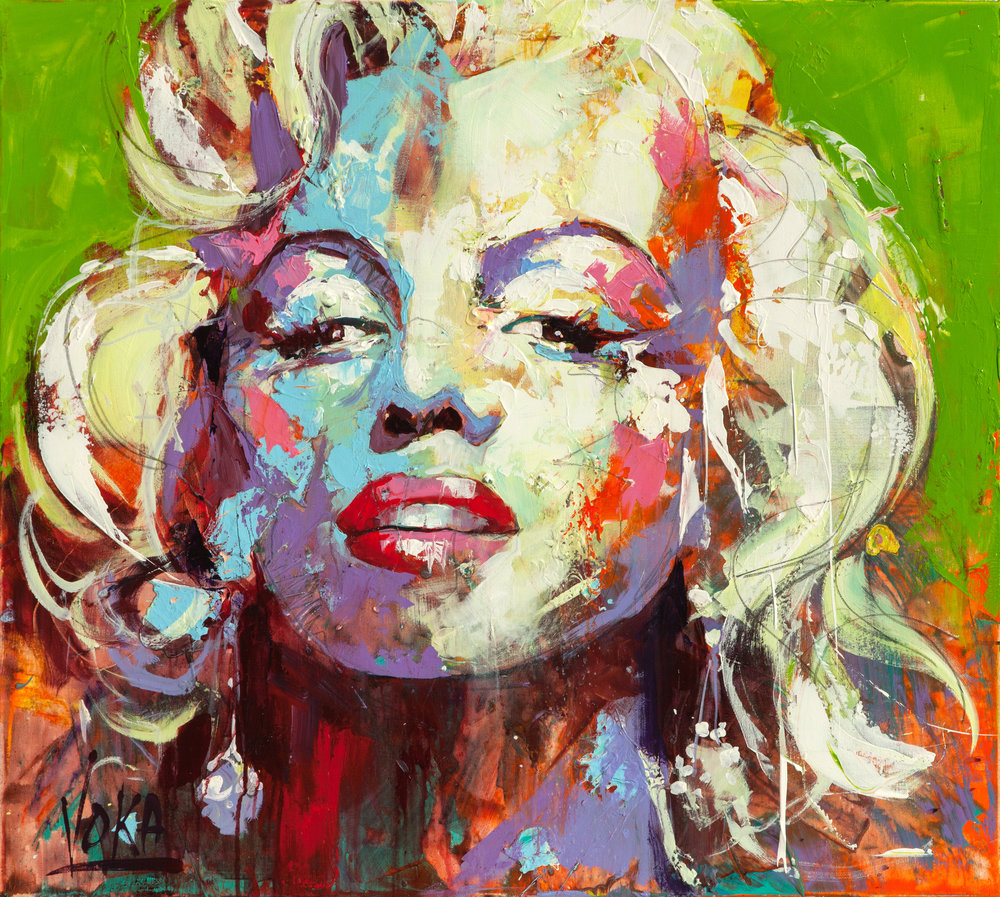 Marilyn, 90x100 cm/35,4x39,4 inch, Acrylic on Canvas