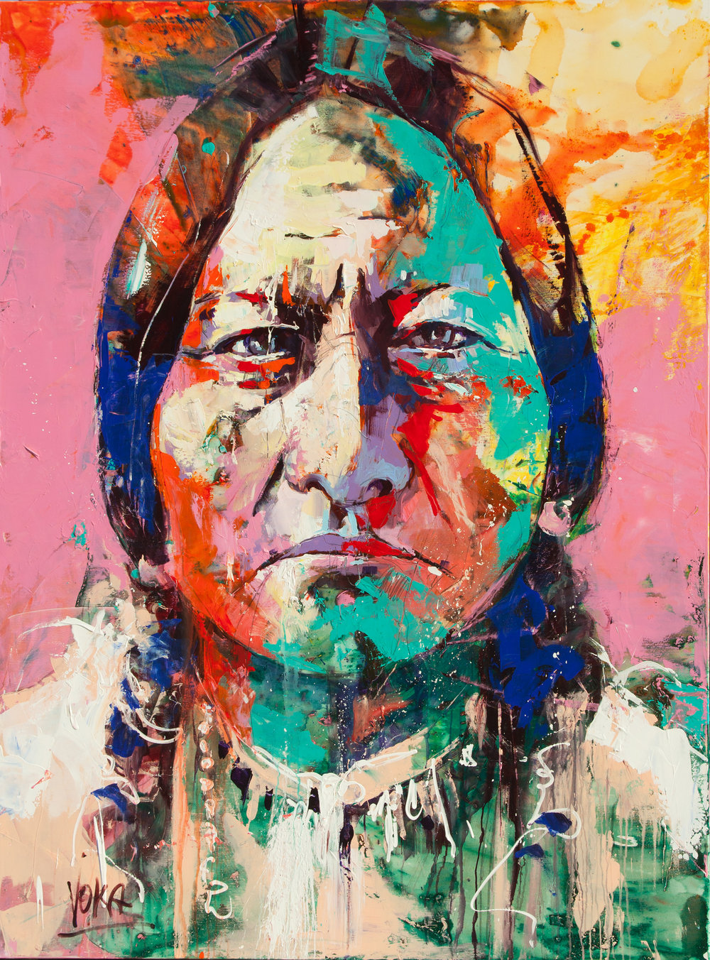 Sitting Bull, 200x150 cm/78,7x59,1 inch, Acrylic on Canvas