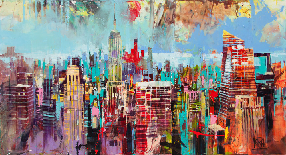 New York City, 140x260 cm/55,1x102,4 inch, Acrylic on Canvas