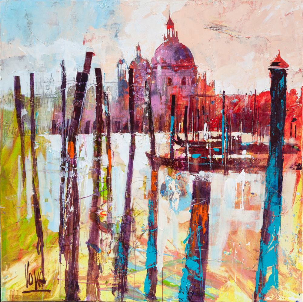 Venezia, 150x150 cm/59,1x59,1 inch, Acrylic on Canvas