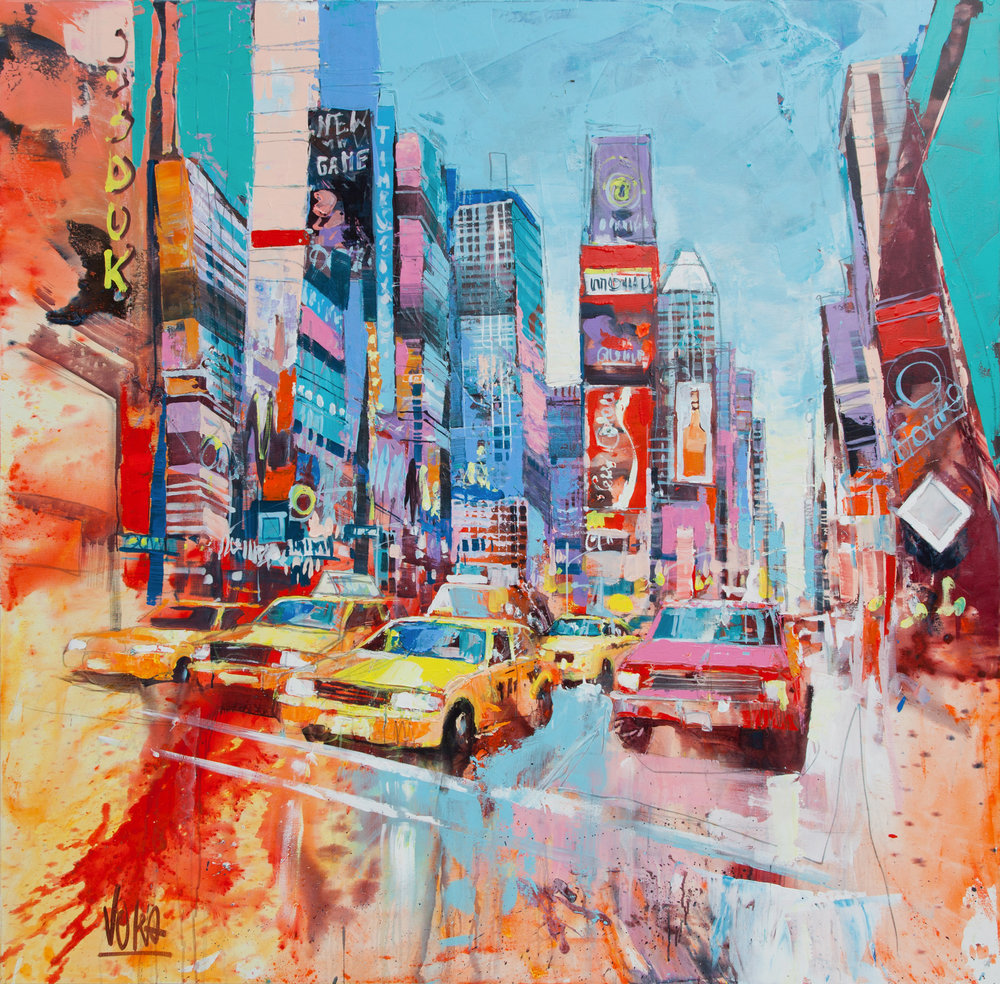 New York City, 180x180 cm/70,9x70,9 inch, Acrylic on Canvas