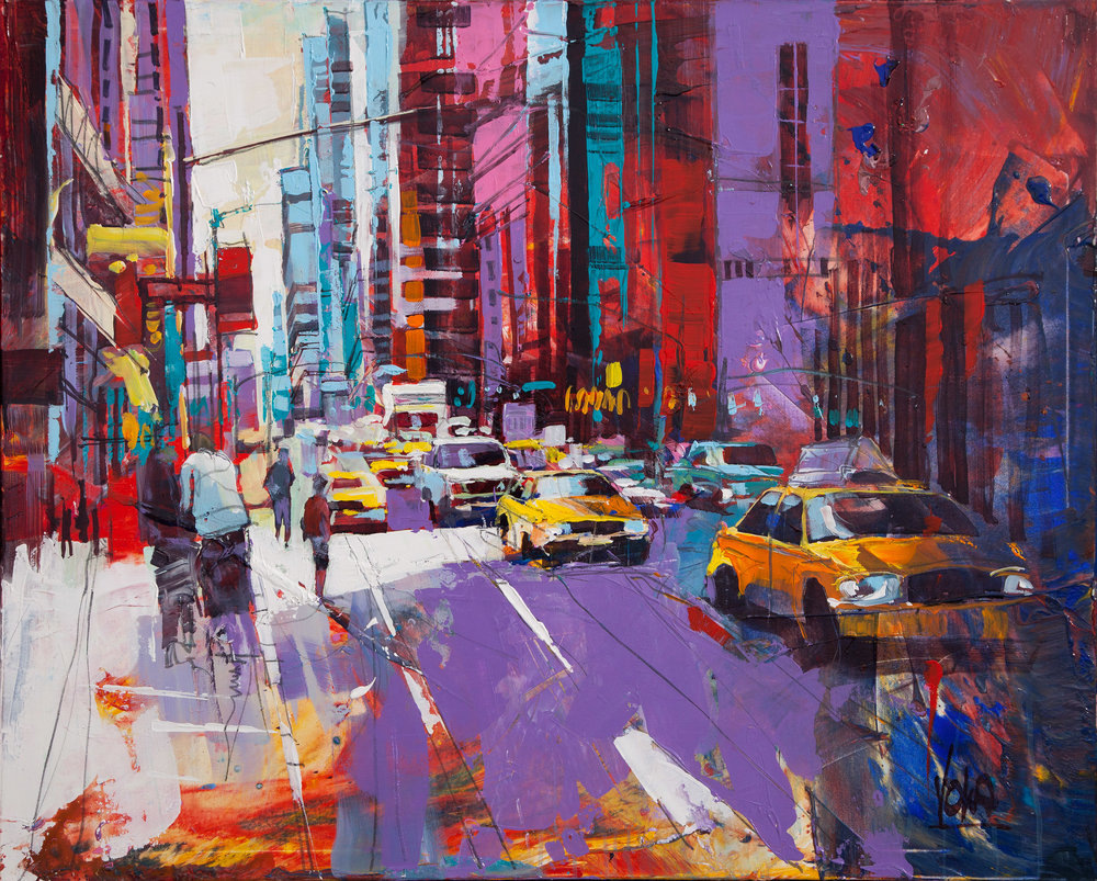New York City, 80x100 cm/31,5x39,4 inch, Acrylic on Canvas