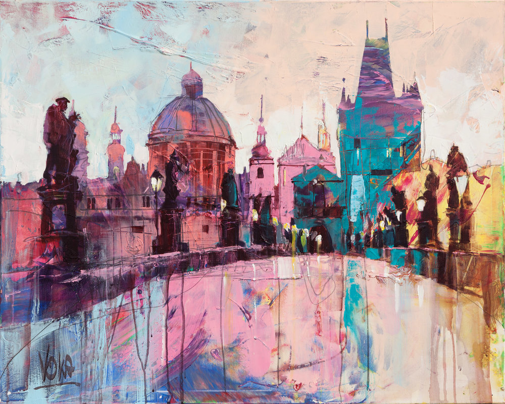 Prag, 80x100 cm/31,5x39,4 inch, Acrylic on Canvas