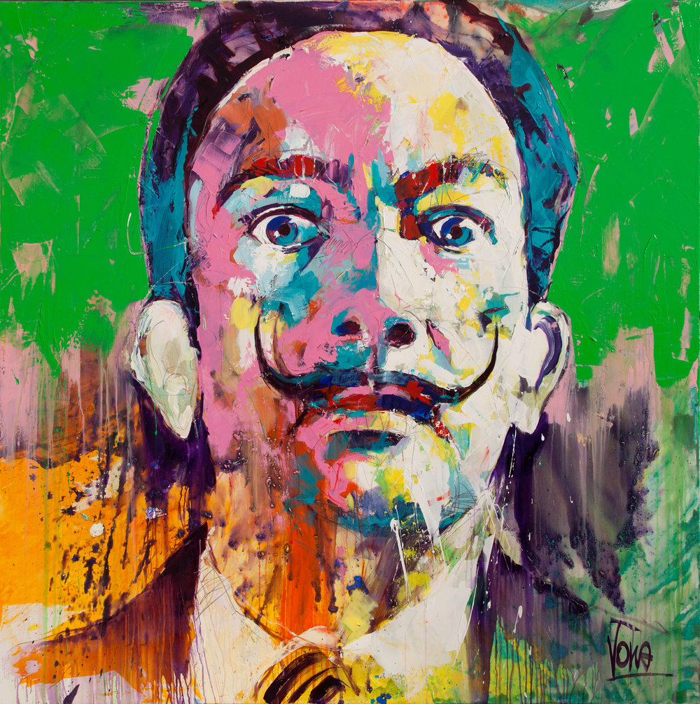 Dali, 190x190 cm/74,8x74,8 inch, Acrylic on Canvas