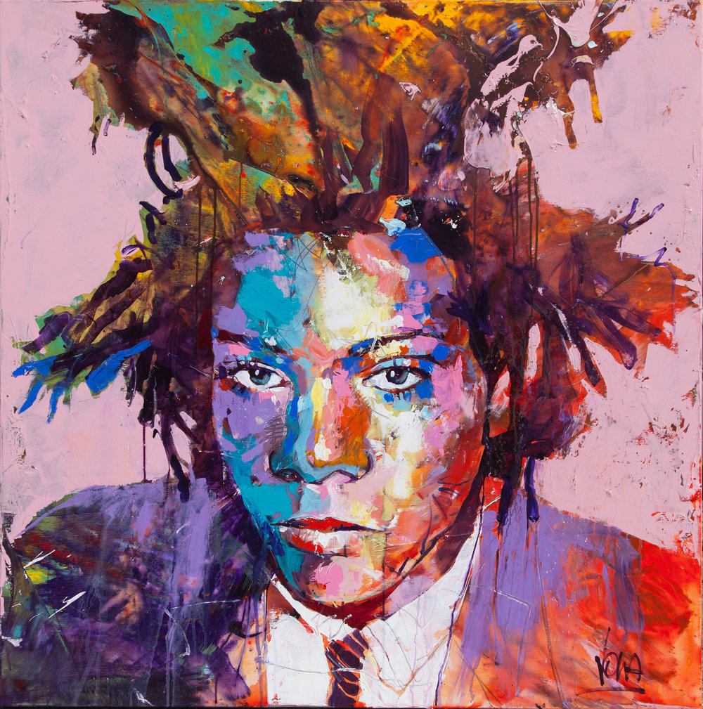Basquiat, 120x120 cm/47,2x47,2 inch, Acrylic on Canvas