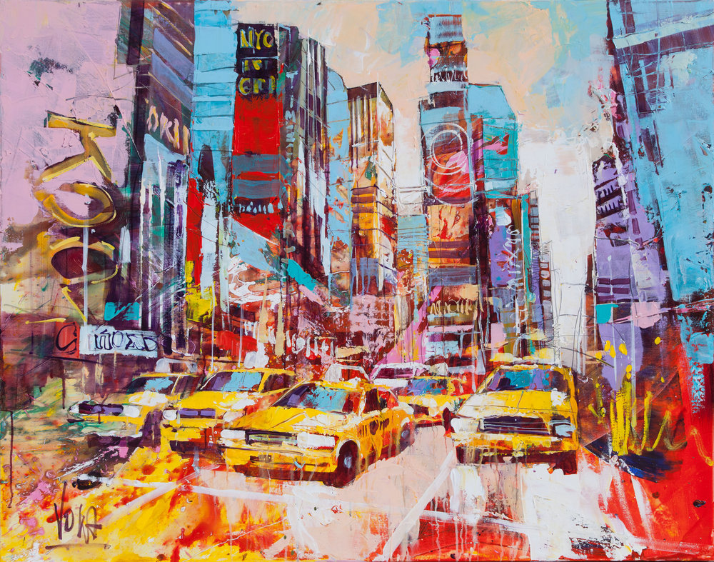 New York City, 110x140 cm/43,3x55,1 inch, Acrylic on Canvas