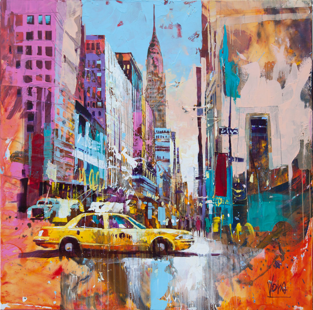 New York City, 130x130 cm/51,2x51,2 inch, Acrylic on Canvas