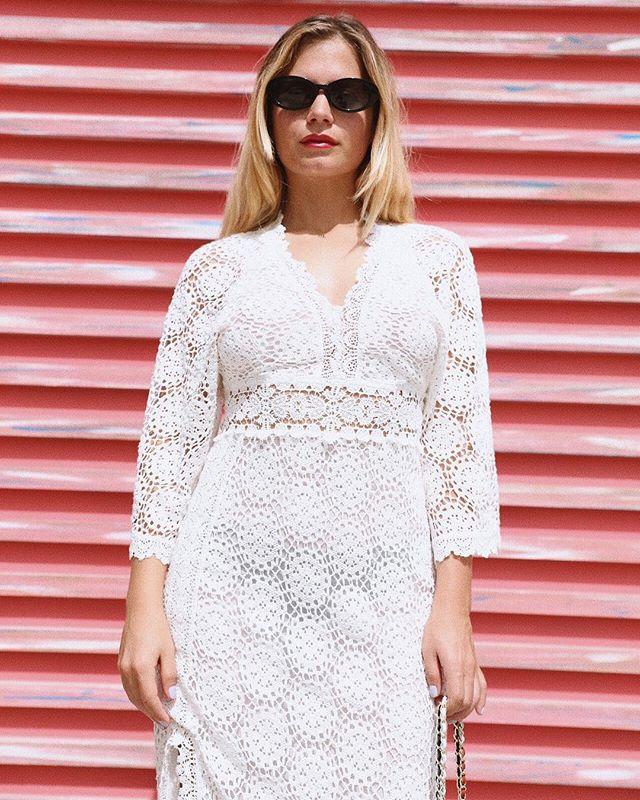 Crochet dress and sunglasses