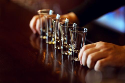 10 Vodka Shots £10
