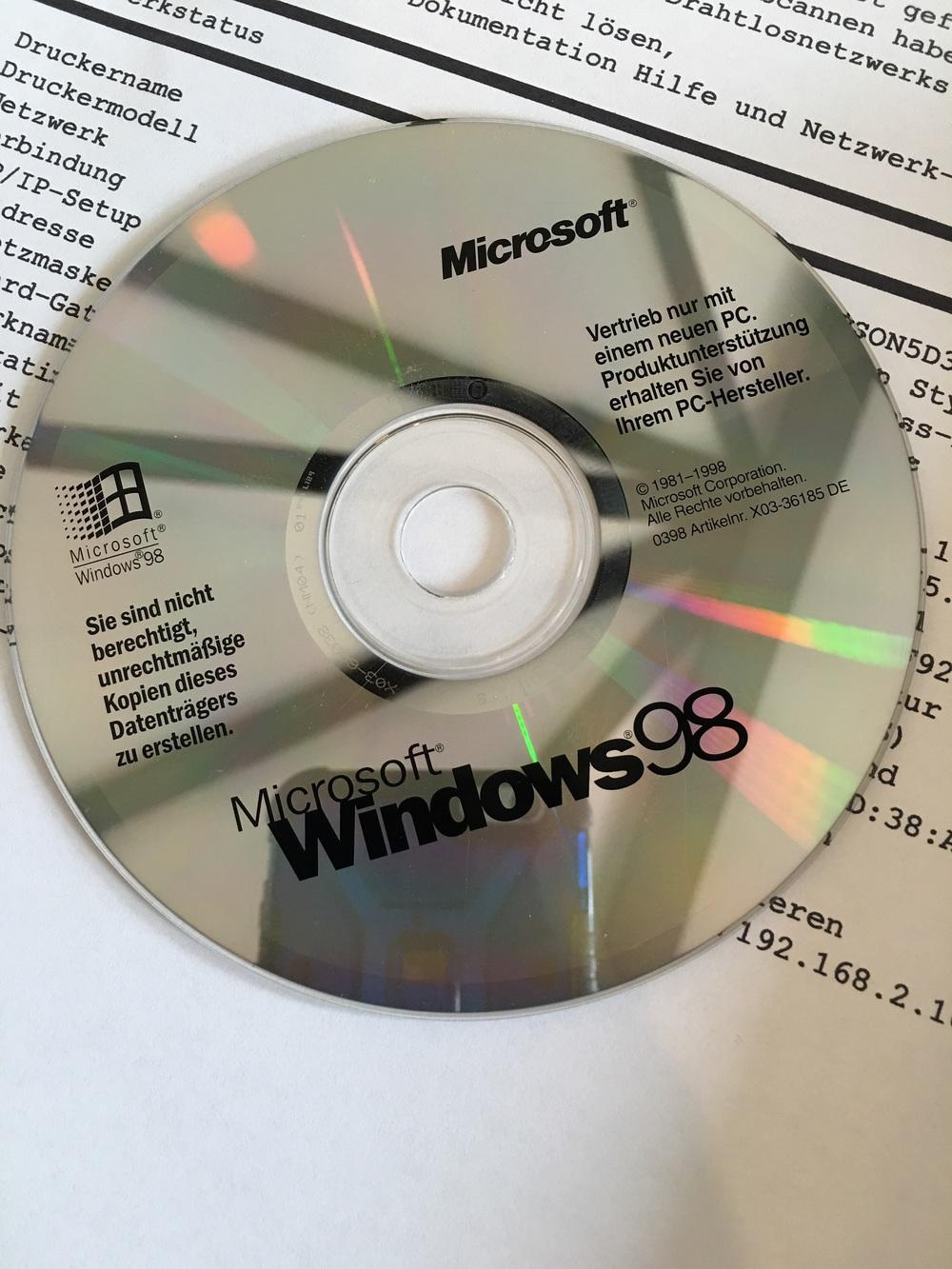 Auch unser alter Rechner wurde geupdated 😂