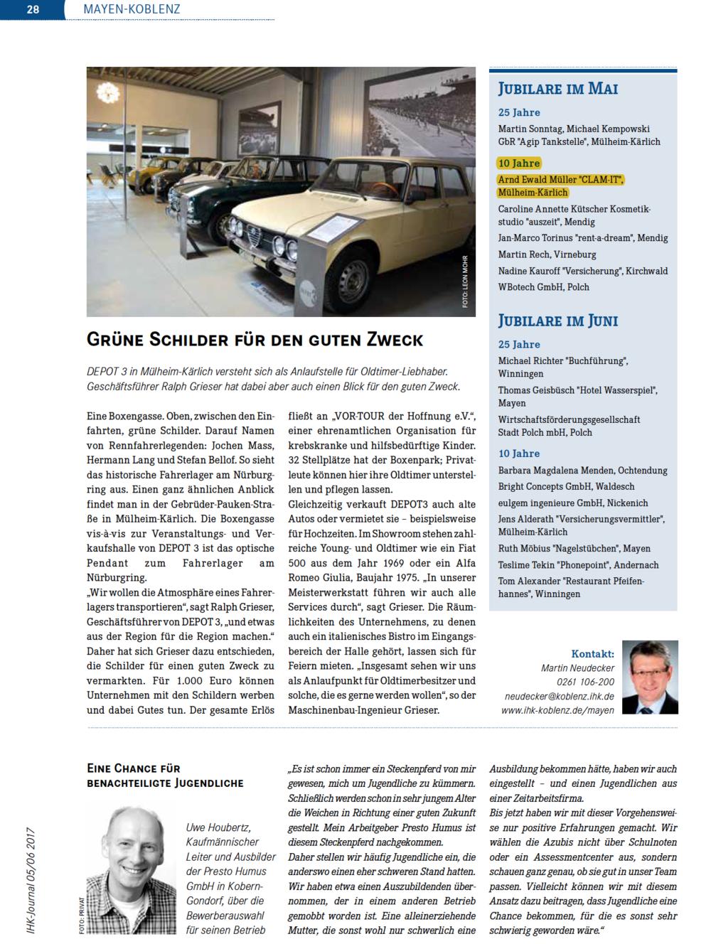 CLAM-IT feiert Jubiläum - Arnd Müller gründete CLAM-IT im Jahre 2007