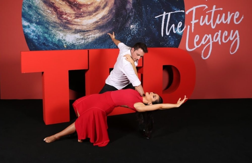 Shadé and Aric Yegudkin    from    Dancing with the Stars    at Australia's first TED conference, held at Sydney's Hordern Pavilion late 2017